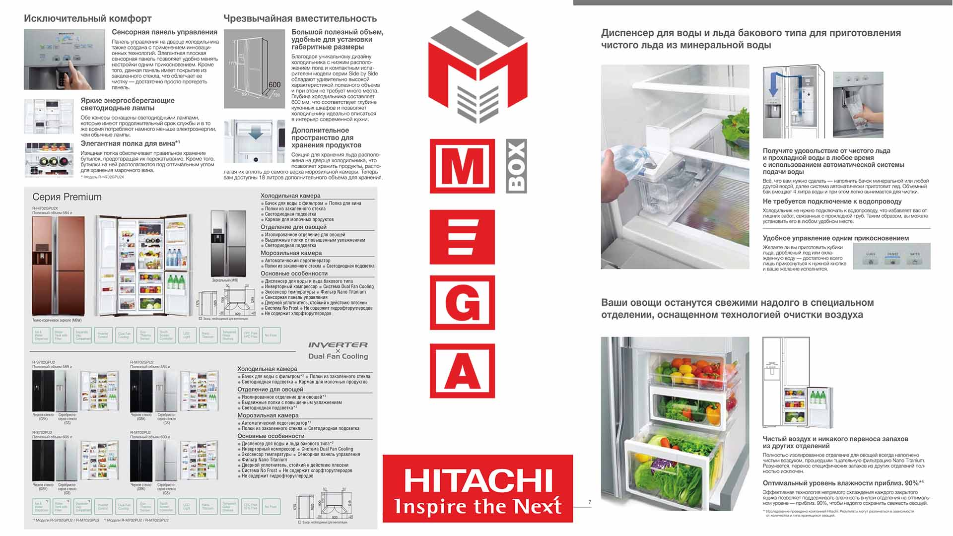 Hitachi-all-5 Холодильник Hitachi Side-by-Side R-S700PUC2GS