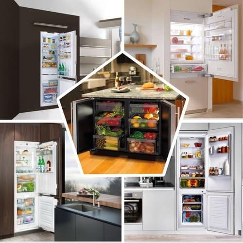 MyCollages_vstroyka Встраиваемый холодильник - плюсы и минусы