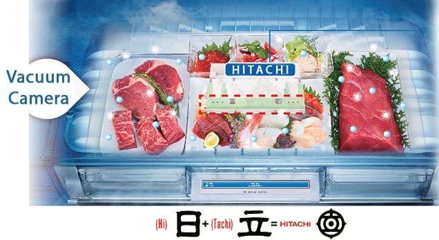 vacuum-camera23 Сравнение холодильников Hitachi R-WB640VUC0GBK и R-WB800PUC5GBK