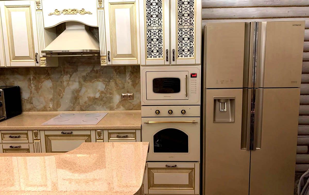 Hitachi_R-W660puc7GBE_а89 Холодильник для кухни-студии, дизайн.